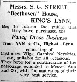 1936 Nov 13th Streets buy Anns fancy dress business