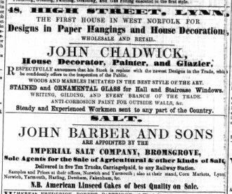 1855 March 17th John Chadwick @ No 48