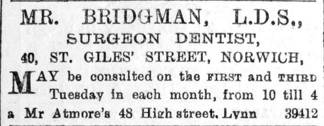 1892 Nov 5th Bridgman @ Atmores