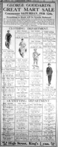 1927 Feb 11th George Goddards Mart sale