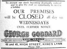 1941 Aug 8th George Goddard Wed closing