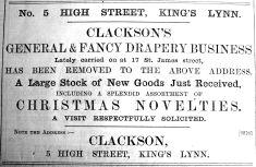 1900 Dec 7th Clackson moves in