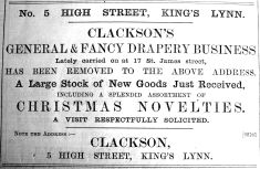 1900 Dec 7th Clackson moves in
