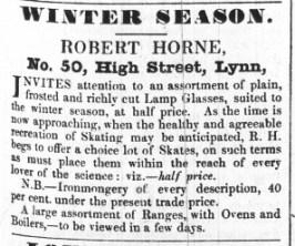 1843 Nov 21st Robert Horne @ 50