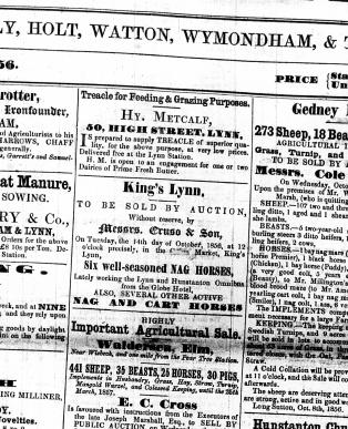 1856 October 11th Henry Metcalf @ No 50
