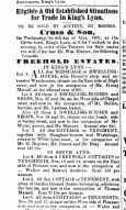 1861 May 4th estate for sale inc Henry Metcalfs @ No 50