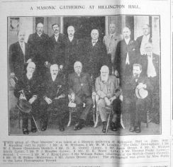 1910 reproduced 1933 Feb 10th Masonic group with C Winlove Smith (fourth right back row)