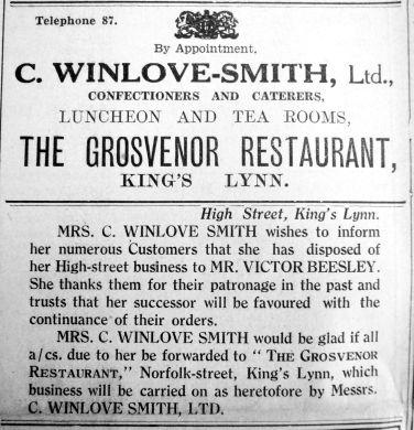 1934 May 25th Winlove Smith disposal
