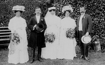 1908 Charles Rivett wedding with brother Reggie (Joe Mason)