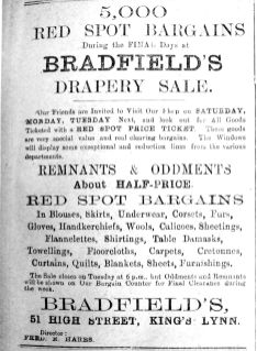 1919 Mar 21st Bradfields Sale