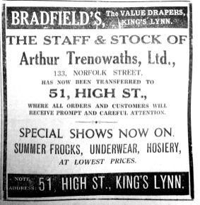 1934 June 8th Bradfields + Arthur Trenowaths staff & stock