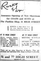 1947 Mar 25th Rivetts of Lynn