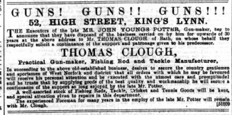 1892 July 9th Thomas Clough @ No 52