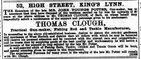 1892 June 25th Thomas Clough at No 52