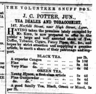 1865 25th Feb J C Potter jnr No 53