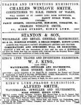 1888 October 27th W J King @ No 54