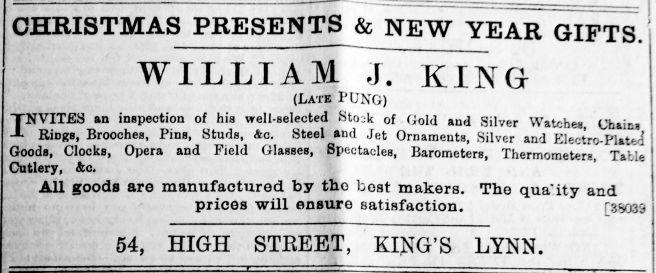 1889 Dec 7th William J King