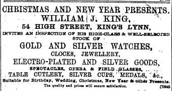 1895 Dec 14th Wm J King @ 54