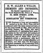 1873 Jan 18th Allen & Willis @ No 55