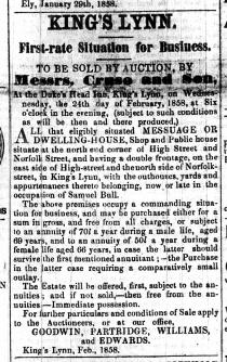 1858 Feb 20th No 56 ex S Bull for sale