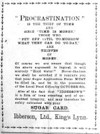 1917 Oct 12th Ibbersons
