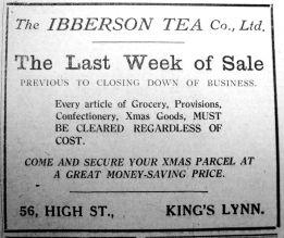 1924 Dec 12th Ibbersons last week