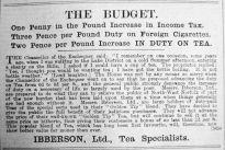 1904 Apr 22nd Ibberson budget