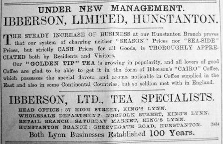 1904 July 1st Ibberson