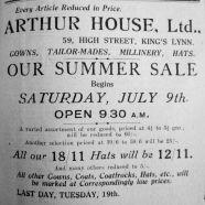 1927 July 8th Arthur House