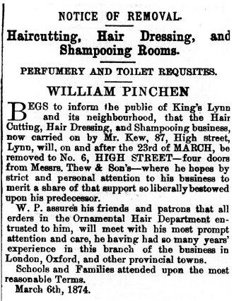 1874 March 21st William Pinchen