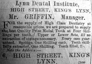 1890 Aug 2nd Griffin Lynn Dental Inst