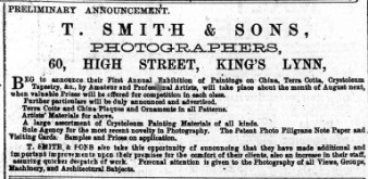 1883 21st April T Smith @ No 60