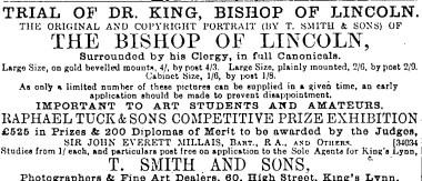 1889 April 13th T Smith & Son @ No 60