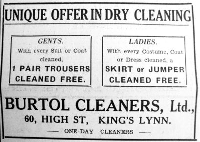 1935 July 12th Burtol Cleaners
