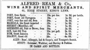 1874 March 14th Alfred Ream @ 61