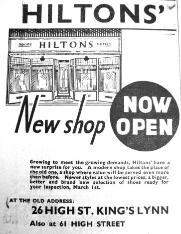 1935 March 1st Hiltons new shopfront @ 26 contrast