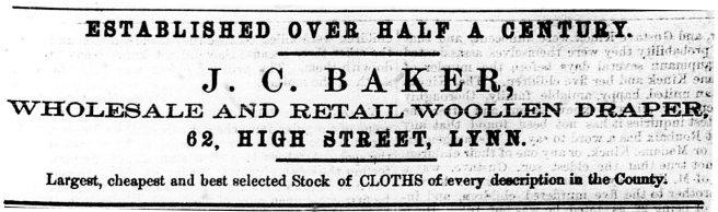 1869 2nd Oct J C Baker 1