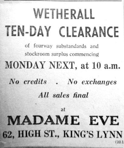1950 Jan 20th Madame Eve