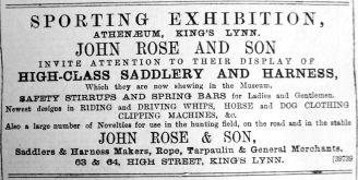 1890 Nov 22nd John Rose & Son