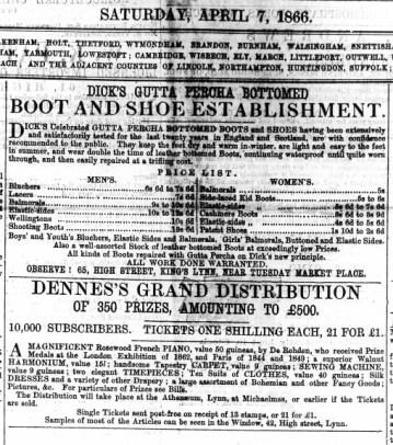 1866 April 7th Dicks @ No 65