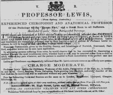 1869 May 1st Professor Lewis @ Dicks