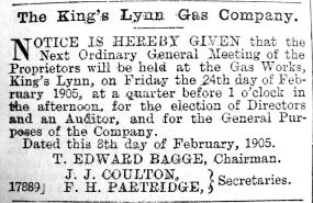 1905 Feb 10th KL Gas Co AGM