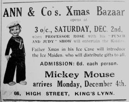 1933 Nov 24th Ann & Co Xmas Bazaar