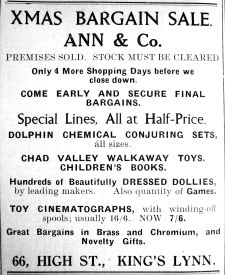 1936 Dec 18th Ann & Co selling up