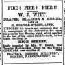 1889 August 31st W J Witt moves to No 67