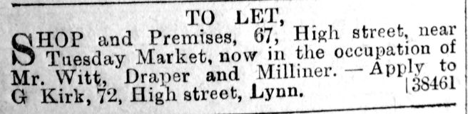 1890 Jan 18th to let
