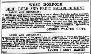 1897 Jan 1st Walter Scoot & J H Martin @ Nos 66 & 67