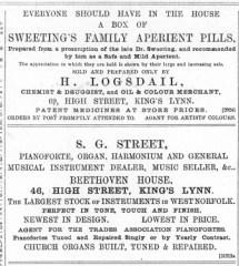 1889 Jan 5th H Logsdail @ No 69