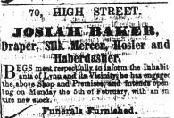 1849 Jan 27th Josiah Baker