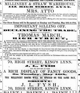1859 May 14th JL Fysh @ No 70